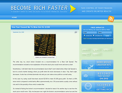 Screen shot of BecomeRichFaster.com